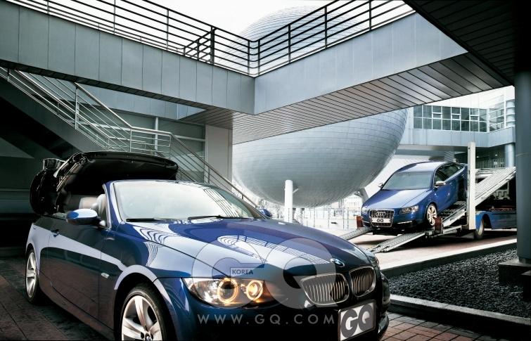 BMW 335i 컨버터블, 직렬6기통 3리터 306마력 트윈터보 엔진, 8천9백90만원. 아우디 S6, V형10기통 5.2리터 435마력 엔진, 1억5천5백90만원.