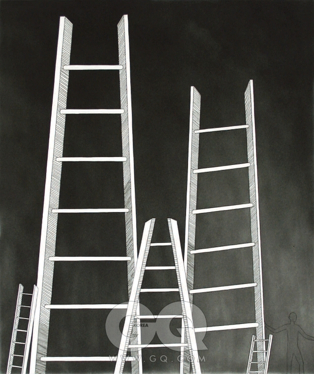 루이스 부르주아 'The Ladders' 2006, 종이에 애쿼틴트 인그레이빙, 50.8 x 39.3cm Courtesy Harlan & Weaver, New York / Photograph by Johee Kim