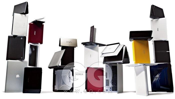 7X4 (왼쪽 줄부터 위에서 아래로) 에버라텍 HS-120(버디) 가격 미정, TG 삼보. 엑스노트 X300-LR80K 1백40만원대, LG. 파빌리온 DM3-1103TX 1백30만원대, HP. 맥북프로 17인치형 3백59만원, 애플. 바이오 P15LG 그린 90만원대, 소니. 윈드 U135 밀레니엄 에디션 49만9천원, MSI. 에버라텍 ES-110(루키) 60만원대 중반, TG 삼보. EeePC 1201N 아이온 60만원대 후반, 아수스. 바이오 P35LKN 골드 1백40만원대, 소니. EeePC 1008P 가격 미정, 아수스. UL80VT 시리즈 1백만원대 초반, 아수스. 터프북 CF-30 현재 단종, 파나소닉.바이오 P35LKR 레드 1백40만원대, 소니. 포르테제 T130 89만8천원, 도시바. X-슬림 X340 80만원대 초반, MSI. 스튜디오 1458 1백만원대초반, 델. 인스피론 미니 10 49만9천4백원, 델. 에버라텍 ES-310(스타) 시리즈 80만~1백30만원대, TG 삼보. 엔비15-1002TX-8G 2백90만원대, HP. UL50VT 1백10만원대, 아수스. 미니 210 가격 미정, HP. 센스 NT-X170-PA53Y 1백만원대 초반, 삼성. 맥북 에어 2백15만원, 애플. 맥북 1백39만원, 애플. 파빌리온 DM1-1028TU 80만원대 중반, HP. X-슬림 X400 80만원대, MSI. 엑스노트 T380-LR41K 90만원대, LG. G51J-IX170V 2백만원대 후반, 아수스.