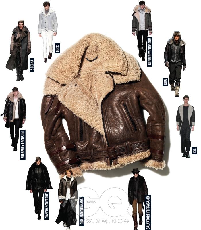 양가죽 소재 조종사 재킷 가격 미정, 버버리 프로섬.