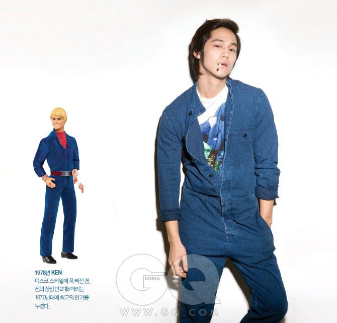 꽃무늬 티셔츠 가격 미정, 질 샌더. 데님 점프 수트 42만8천원, A.P.C.