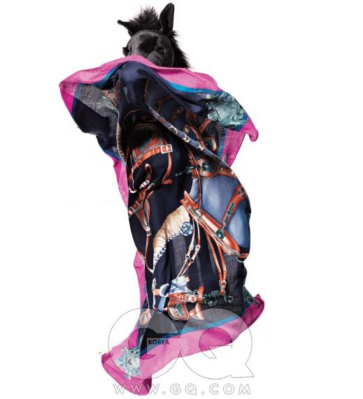 마구 무늬 스카프 가격 미정, 에르메스.