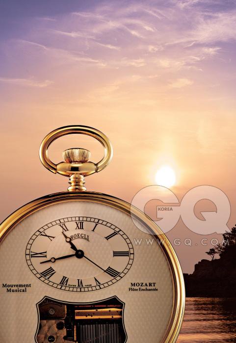영롱한 멜로디 무브먼트가 장착된 회중 시계 가격 미정, 보글리.