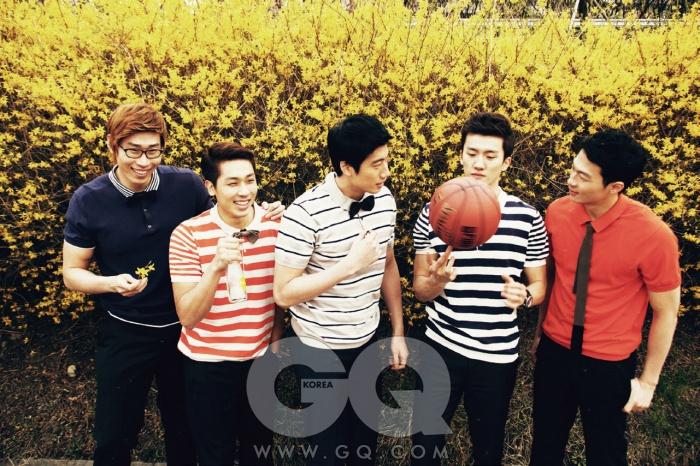 (왼쪽부터) 오세근, 김태술, 양희종,박찬희,이정현
