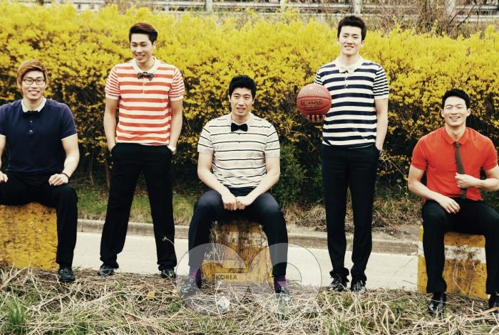 왼쪽부터) 오세근, 김태술, 양희종,박찬희,이정현
