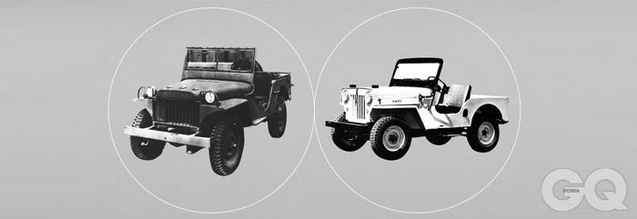 지프의 흐름 1941년 지프 윌리스 MA, 1953년 지프 CJ-3B…. 이후에도 지프는 지속적으로 변했다. 더 편해졌고, 성능은 개선됐다. 군용으로 생산했던 최초의 목표는 지금 오프로드의 아이콘으로까지 진화했다. 2014년의 지프는 예쁘다는 이유만으로 살 수도 있는 자동차다. 일단 소유한 이후라면, 그 거침없는 진면목을 알게되는 데 오랜 시간이 걸리지는 않을 테지만.