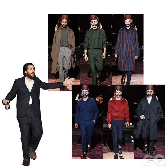 UMIT BENAN 유밋 베넌의 마지막 밀란 컬렉션. 시간의 흐름이 느껴지는 이스탄불의 기묘한 아름다움이 망막을 달군다. 유밋 베넌을 두고 최신 유행을 논하는 건 의미 없다. 이번엔 만개했다 시들기 직전의 한숨 같은 색깔만으로 옷을 만들었다. 그의 강건한 발걸음은 이제 파리로 이어진다.