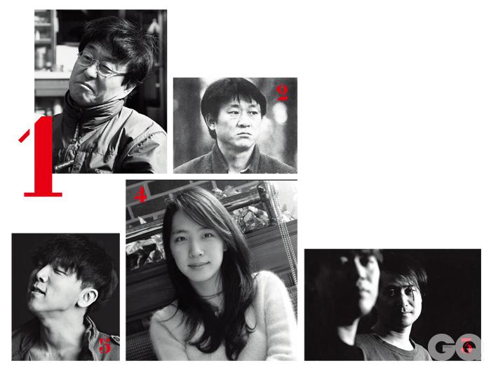 1. 김창완 2. 김민기 3. 하덕규 4. 김이나 5. 정기고