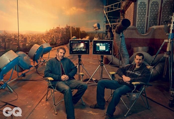 시리즈의 총괄 프로듀서, 데이비드 베니오프(좌)와 D.B. 베이스(우)