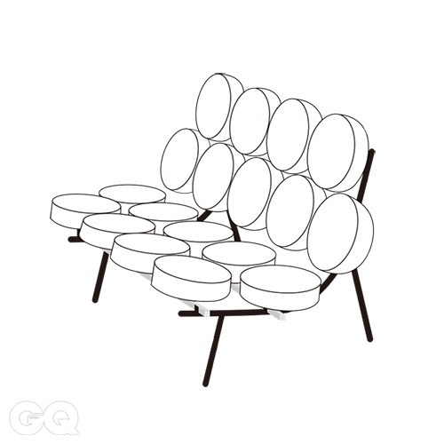 MARSHMALLOW SOFA Designed by George Nelson Produced by Herman Miller 1956, United States