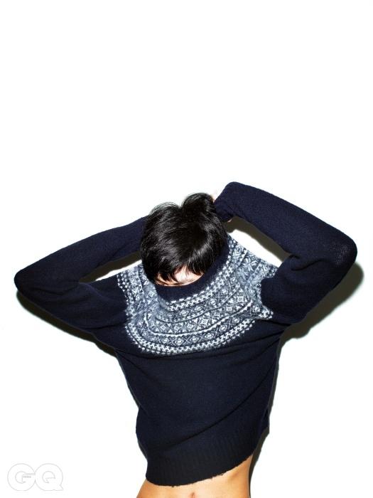 셰기 울 소재로 짠페어아일 스웨터 32만3천원,하버색 by 샌프란시스코 마켓.