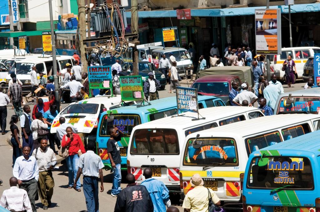 DEP6NY Matatus in Accra Street near River Road nairobi kenya