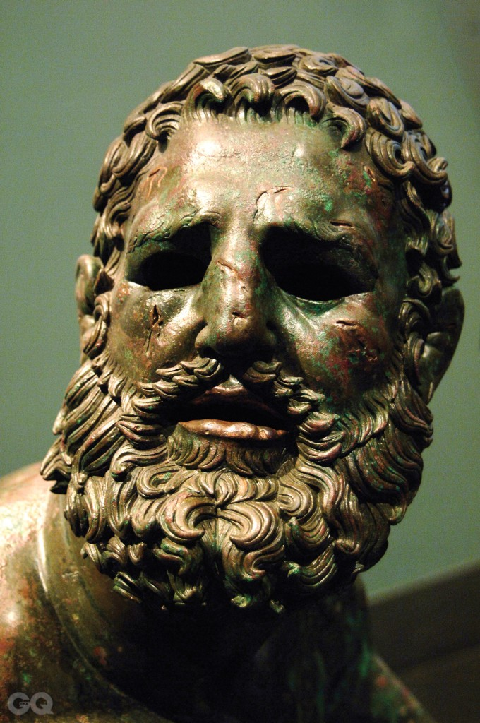 Greek Art, Hellenistic, Boxer of Quirinal or the Terme Boxer, Bronze sculpture of the Hellenistic period (1st century B.C.), Boxer sitting at rest, with metal and leather dressings used for combat, Palazzo Massimo, National Roman Museum, Rome, italy. (Photo by Prisma/UIG/Getty Images)