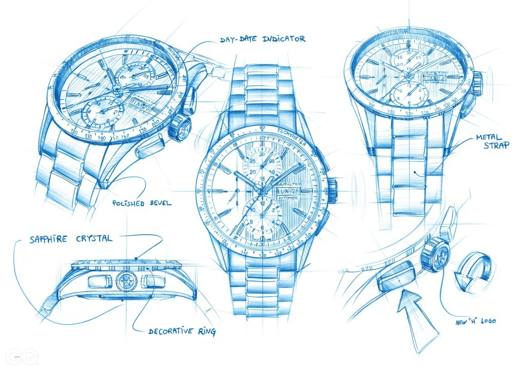 H43516131 Hamilton Broadway Auto Chrono Sketch_high rgb_14186