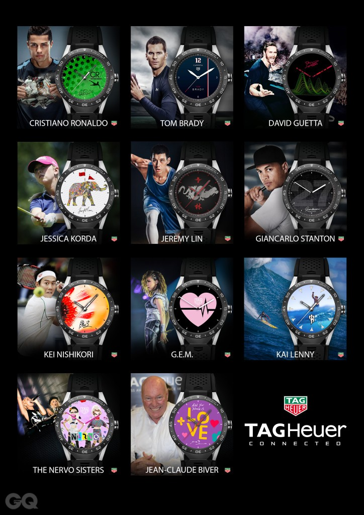 TAG Heuer Connected Watch Face Ambassadors
