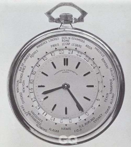 루이 코티에가 바쉐론 콘스탄틴과 함께 개발한 월드 타임 회중시계.