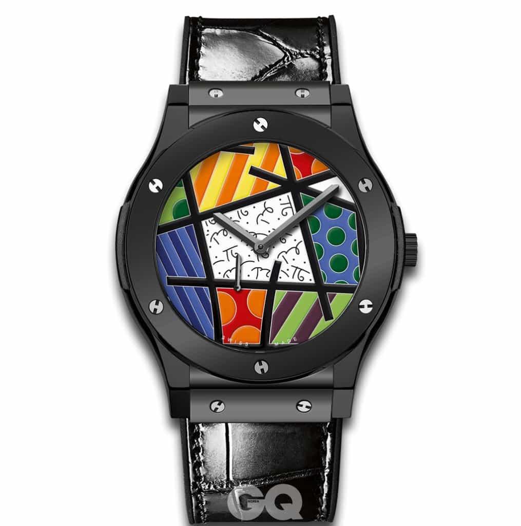 마이애미 도시 전체를 자신의 작품으로 변화시킨 브라질 태생의 팝 아티스트 로메로 브리토와 협업한 위블로의 시계.