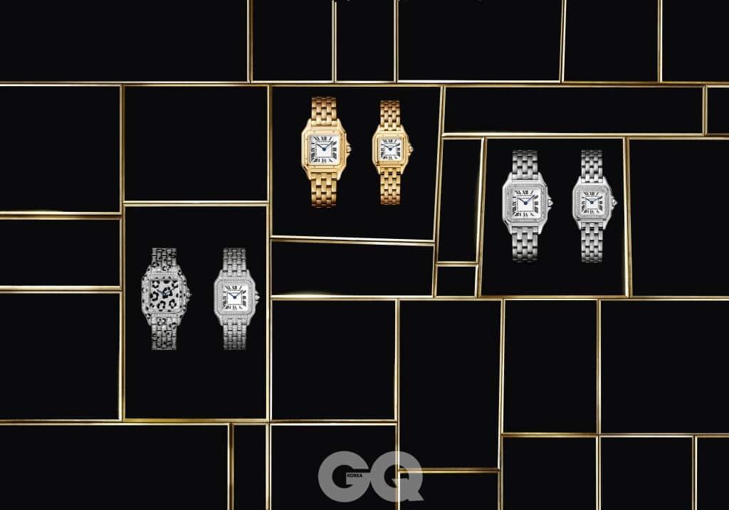 다양한 버전으로 만날 수 있는 팬더 드 까르띠에 컬렉션.