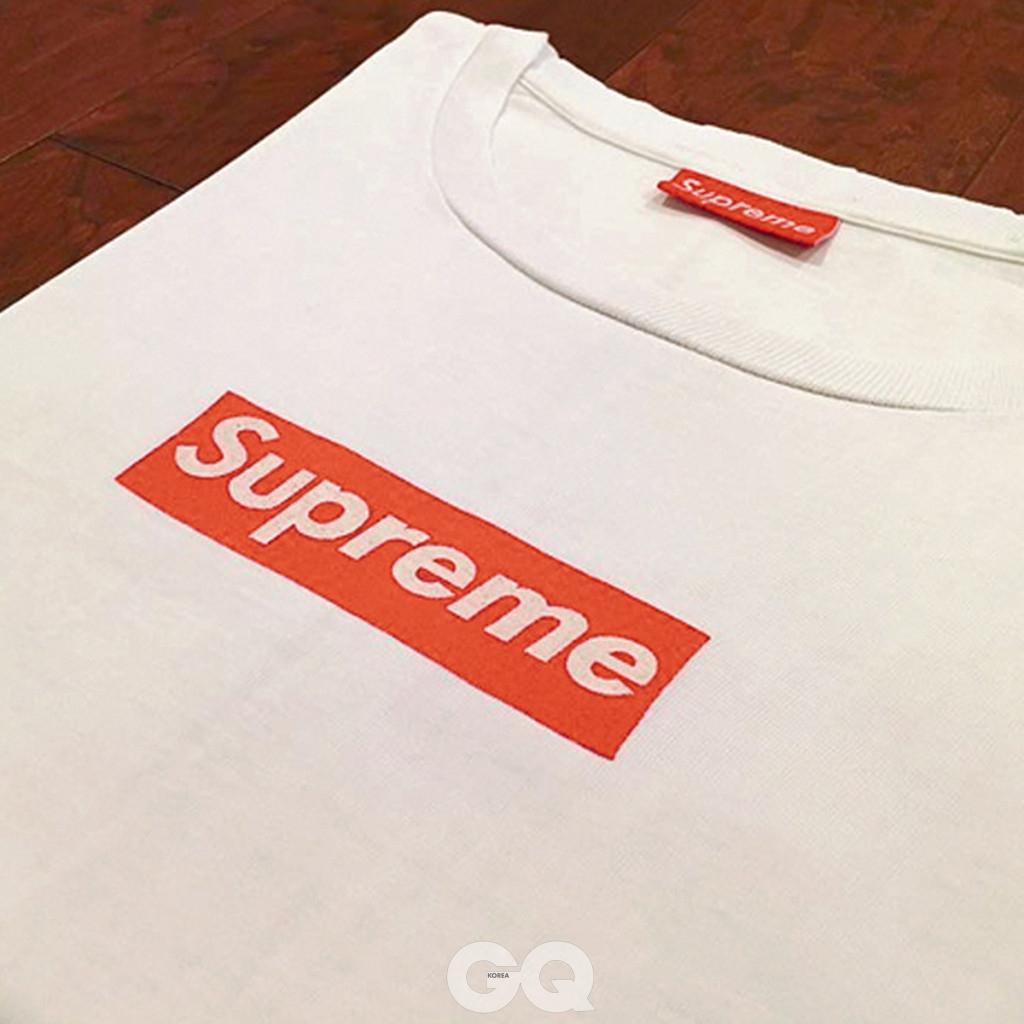 2014 20주년 박스 로고 티셔츠