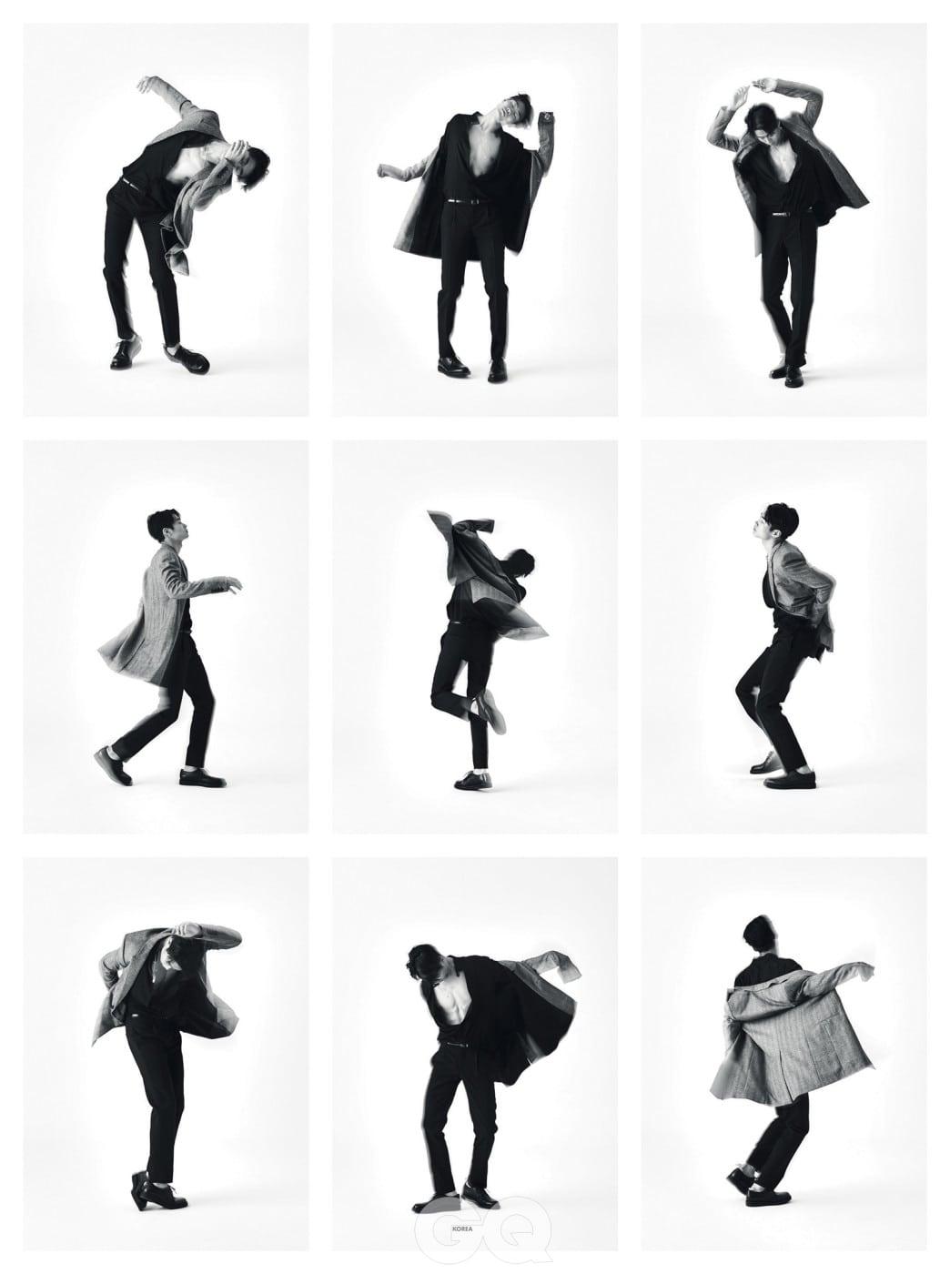 싱글 코트, 셔츠, 팬츠, 슈즈, 벨트 가격 미정, 모두 생 로랑 by 안토니 바카렐로.