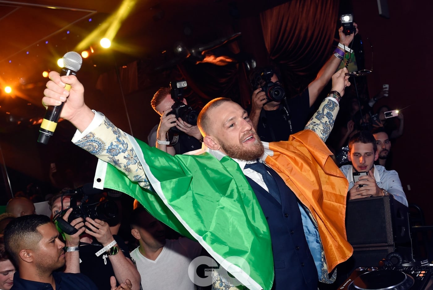LAS VEGAS, NV - AUGUST 27:  Conor McGregor attends his after fight party and his Wynn Nightlife residency debut at the Encore Beach Club at Night at Wynn Las Vegas on August 27, 2017 in Las Vegas, Nevada.  (Photo by David Becker/Getty Images for Wynn Nightlife)