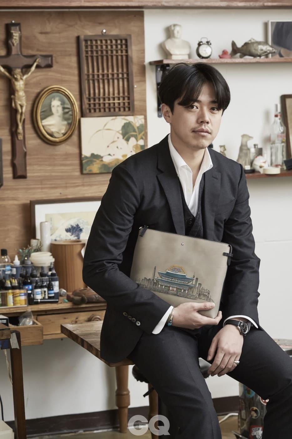 몽블랑의 에 한국 대표로 참여한 타투이스트 난도