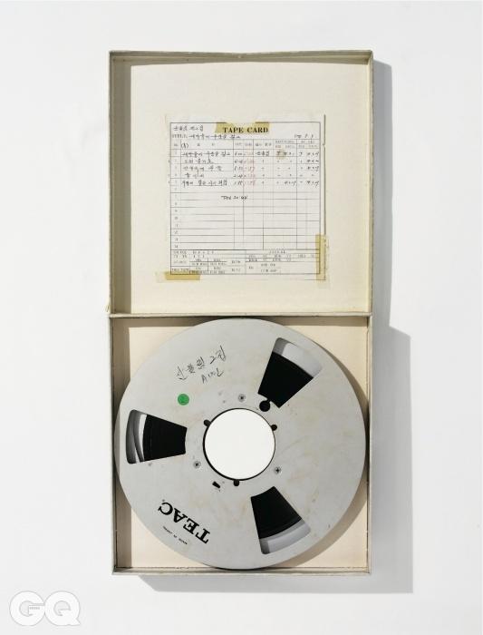 릴 테이프는 김창완과 산울림의 역사이자 소장품.