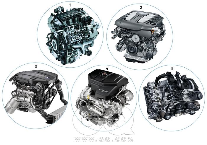 1 BMW 12기통 트윈파워 가솔린 엔진 2 BMW 신형 4기통 디젤 엔진 3 캐딜락 SRX용 V6 2.8 직분사 터보 가솔린 엔진 4 파나메라 터보 엔진 5 포르쉐911 카레라S 엔진