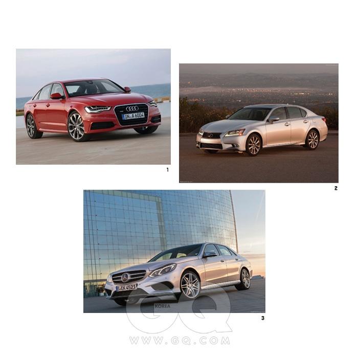 지금 가장 현대적인 고급함을 소유하고 싶다면 메르세데스-벤츠 E클래스를 사면 된다. 아우디 A6는극도로 우아하고 세련됐으면서도 적당히 경쾌하다. 아우디 사륜구동 시스템 콰트로는 시종 안정적이다.렉서스 GS350은 본연의 정숙함에 역동성을 더했고, 미학적 모험을 감행했다. 그 결과가 나쁘지 않다.자, 여기서 BMW 5시리즈는 정확하게 중심을 잡는다. 동시대 중대형 세단이 지녀야 하는 덕목을 고루갖추고, 안락함과 운전 재미 중 어느 것도 포기하지 않았다. 일단 5시리즈를 알고 보면, 나머지 석 대의자동차가 각각 어떤 매력을 가졌는지 더 확실하게 알 수 있을 정도다. 기준이자 표본이라는 뜻이다.1 아우디 A6 5청8백30만~8천2백60만원2 렉서스 GS350 5천9백50만~7천6백90만원3 2014 메르세데스 벤츠 E클래스6천 20만~9천 90만원
