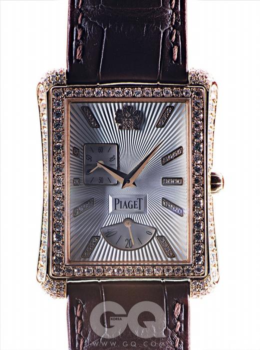 핑크 골드 케이스에 화려한다이아몬드가 세팅된엠퍼라도 7천1백만원대,피아제.