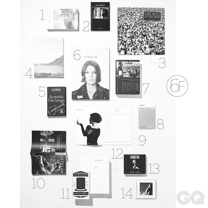 1 [Too Brief a Treat: The Letters of Truman Capote], 빈티지. 2 [Duane Michals], 포토 포슈. 3 조지 마이클 [Listen Without Prejudice], 콜롬비아레코드. 4 [Dubist] 매거진, 등산불륜. 5 [Fat Magazine] 이슈 C, 뒤어 하겐. 6 [미시마유키오 대 동경대전공투 1969-2000], 새물결. 7 [The Little Black Songbook: Acoustic Hit Songs], 뮤직 세일즈. 8 [Wallpaper City Guide: Osaka], 페이든. 9 [Fantastic Man] No.10, 판타스틱 맨. 10 [바람만이 아는 대답], 문학세계사. 11 [Lincoln Speeches], 펭귄. 12 [Less and More: The Design Ethos of Dieter Rams], 게스탈튼. 13 프랭크 시나트라 [Sinatra New York], 워너뮤직. 14 라이[Woman], 유니버설뮤직.