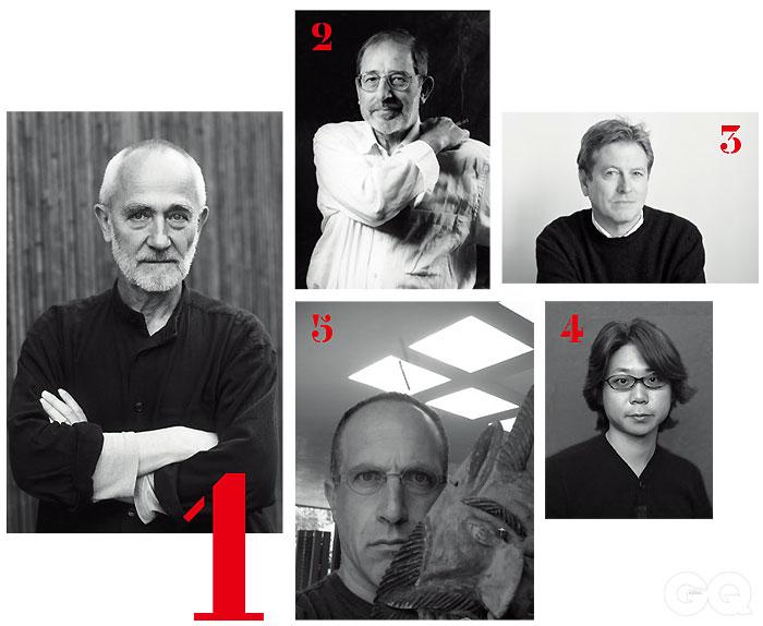 1. 페터 춤토르 2. 알바로 시자 3. 존 파우슨 4. 마에다 케이스케 5. 알베르토 칼라치