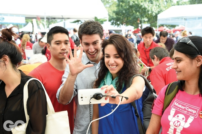 LG전자 G3 스마트폰으로 촬영 중이다.
