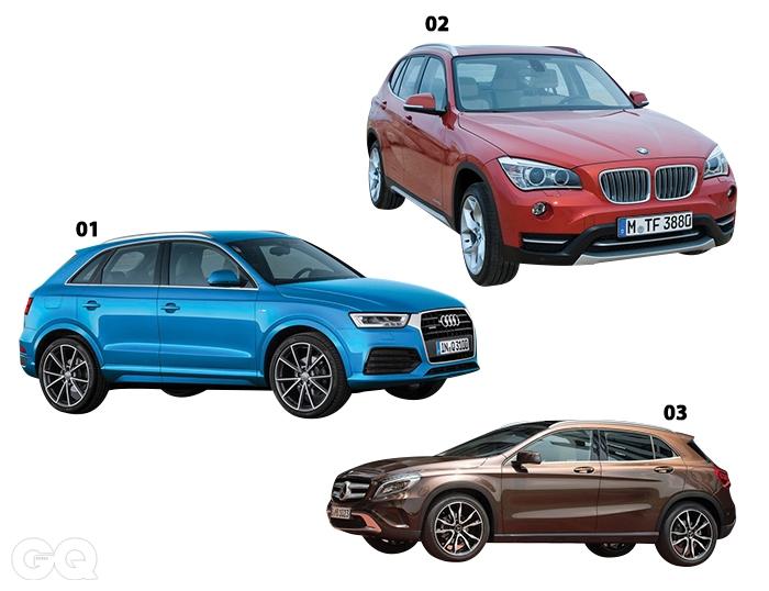01 아우디 Q3 30TDI 콰트로4천8백90만원.02 BMW X118d x드라이브5천1백10만원.03 메르세데스-벤츠GLA 200 CDI4천9백만원.