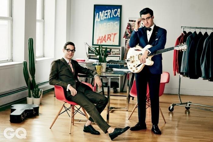 왼쪽부터   디자이너 데이비드와 로커닉 워터하우스. 사실 데이비드는 닉의,닉은 데이비드의 열렬한 팬이었다.