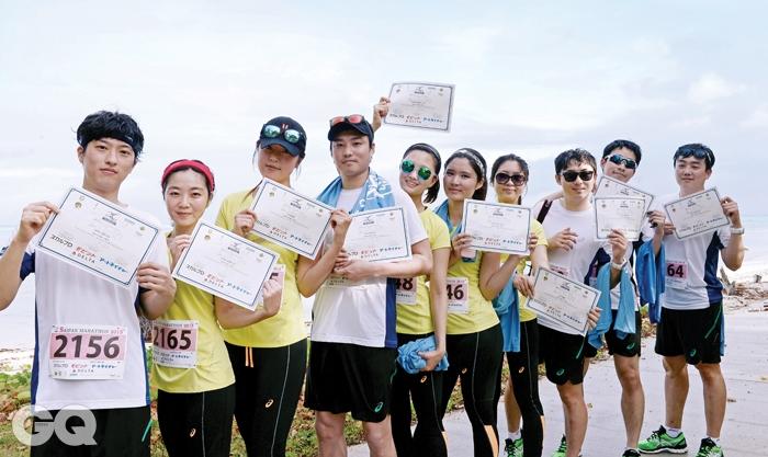 사이판 마라톤 대회 한국 참가자들
