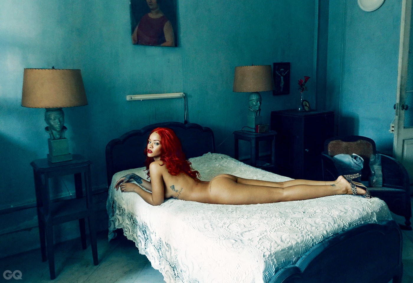UNAPOLOGETIC           Rihanna bares all in the bedroom of the Josie Alonso House.