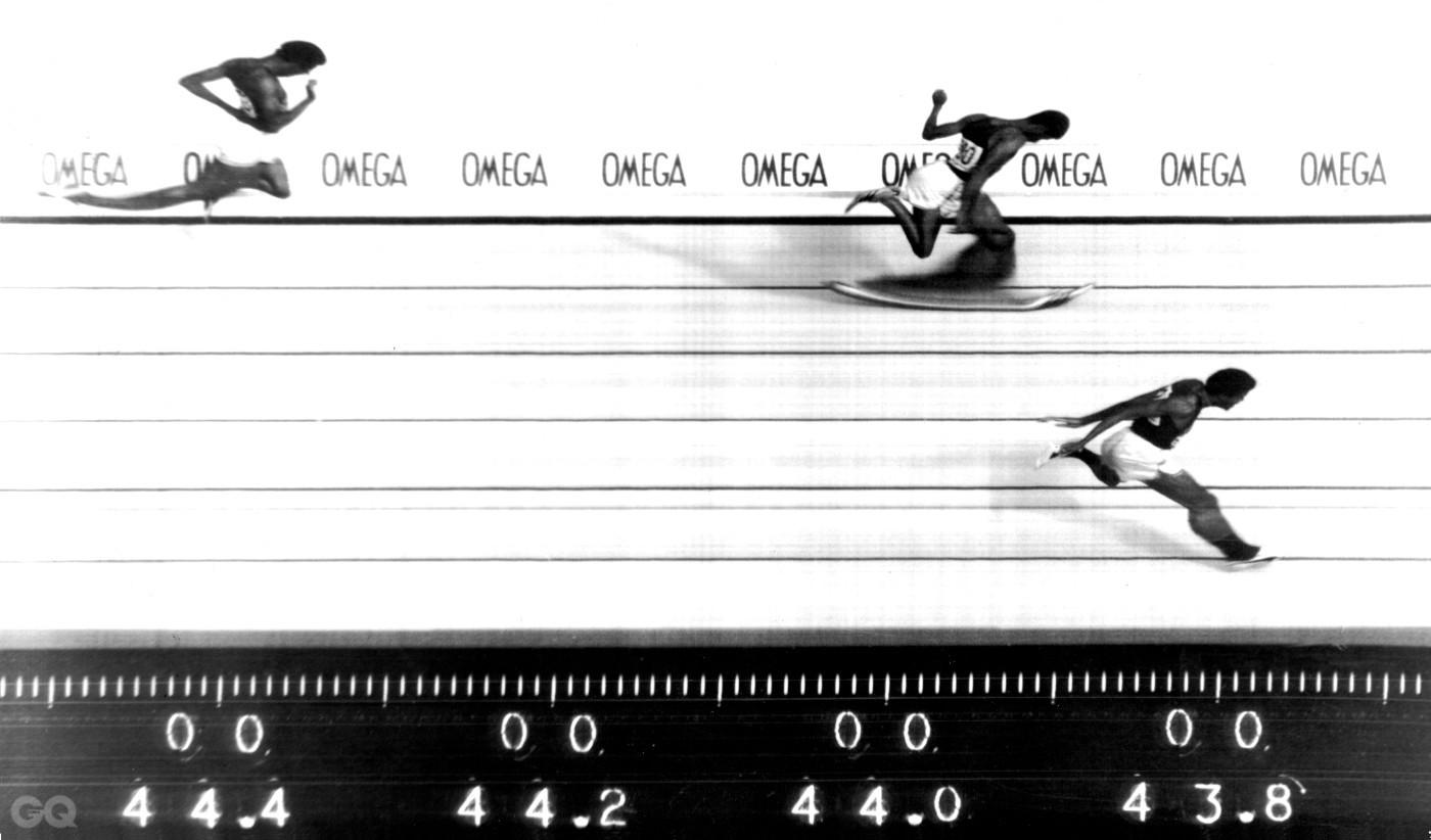 1984년 로스앤젤레스 올림픽에서 촬영된 포토피니시 카메라 이미지