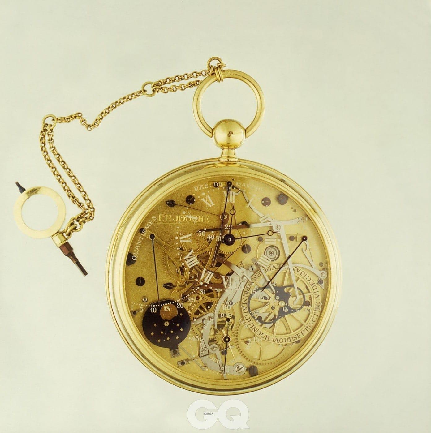 파리 베르누이 거리 공방에서 1986년에 완성한 회중시계. 마리 앙투아네트가 아브라함 루이 브레게에게 주문했던 초복잡 회중시계에서 영감받았다.
