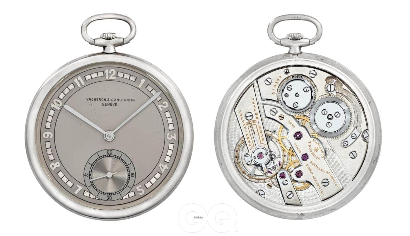 1931년에 제작된 플래티넘 소재의 회중시계도 만날 수 있다.