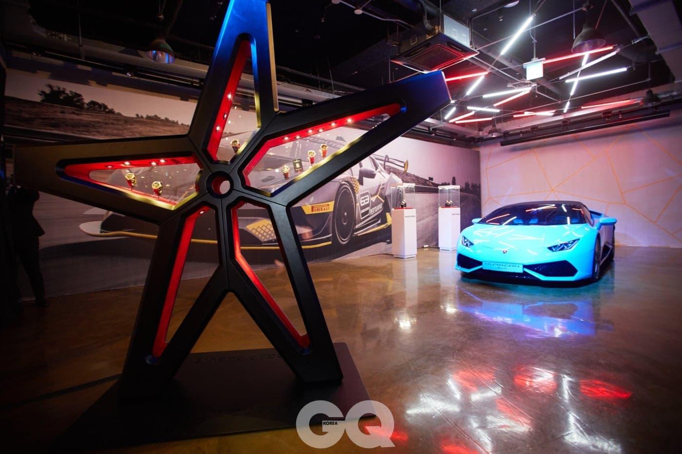올해 들어 더욱 다양해진 로저드뷔의 모터스포츠 워치 컬렉션을 다양하게 만날 수 있었던 행사장의 모습.